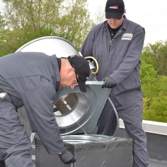 Exhaust fan hinge replacement